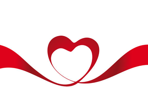500x350 Creative Heart From Red Ribbon Design Vector 05 Free Download