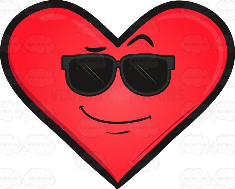 800x644 Cool Looking Heart Emoji Clipart By Vector Toons