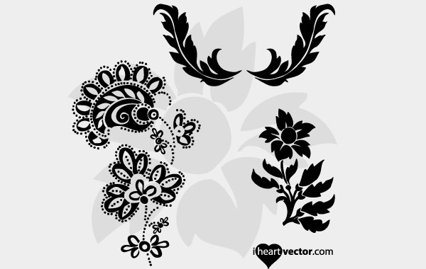 Heart Flourish Vector