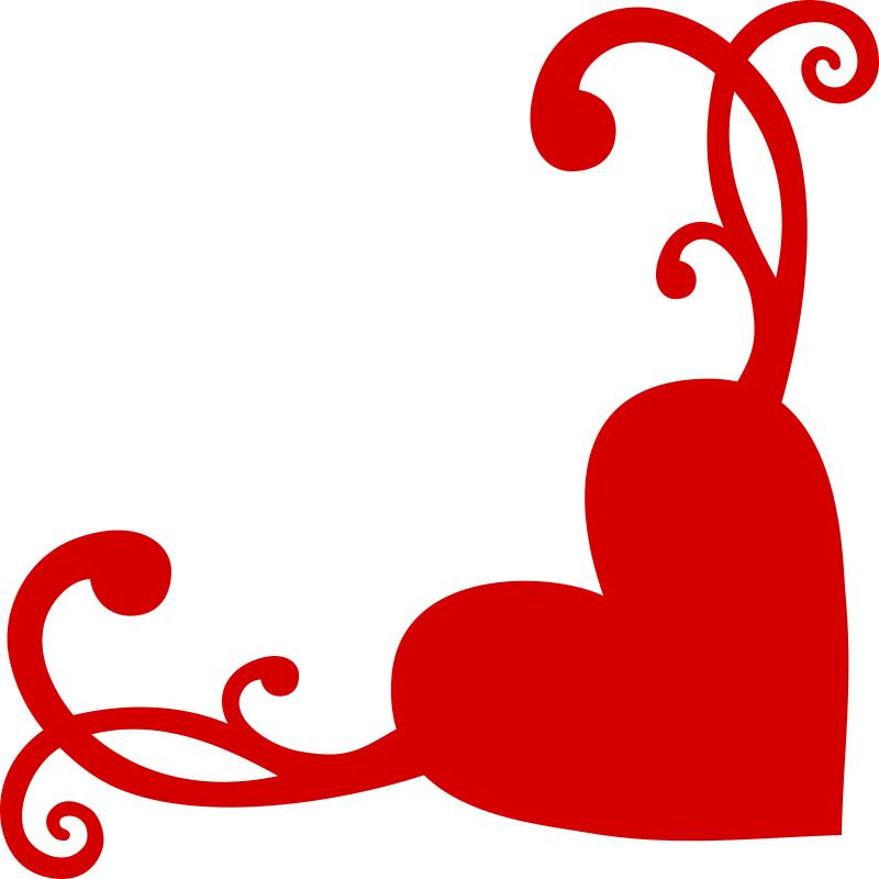 800x800 Heart Flourish Corner Free Vector Download