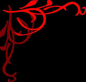 298x285 Heart Flourish Red Clip Art