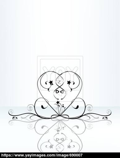 387x512 Heart Flourish Vector Illustration Vector