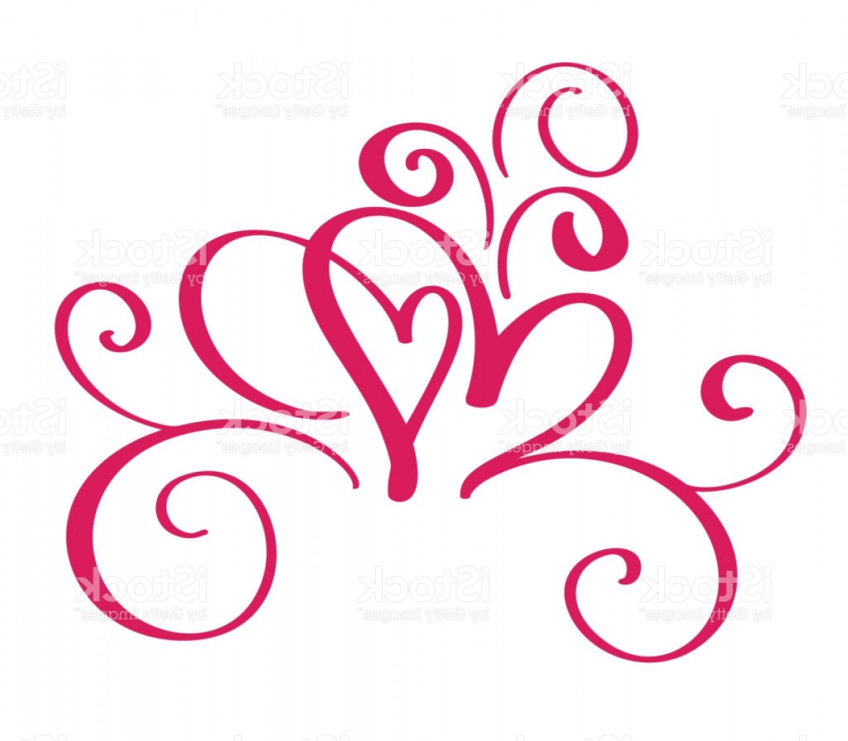 1228x1074 Vector Valentines Day Of Flourish Calligraphy Vintage Hearts Hand