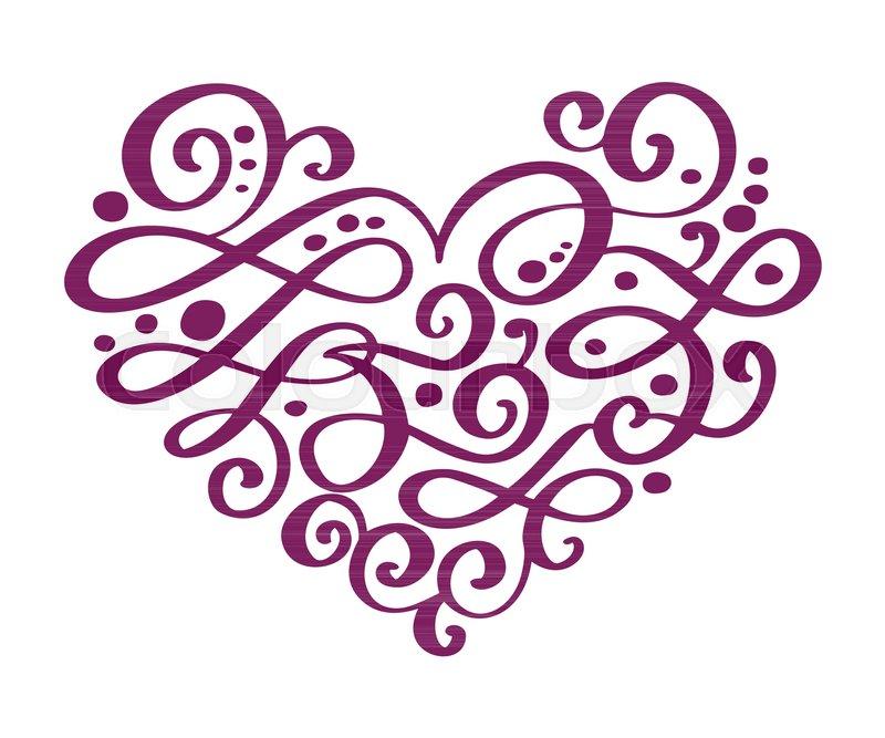 800x667 Hand Drawn Heart Love Valentine Flourish Separator Calligraphy