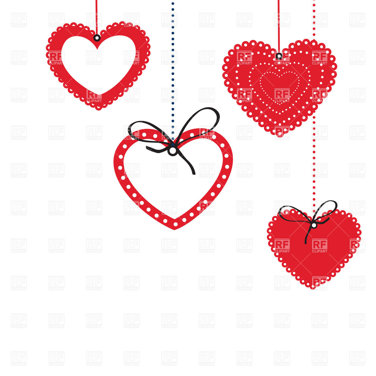 1200x1200 Hanged Heart Shaped Frames Vector Image Vector Artwork Of