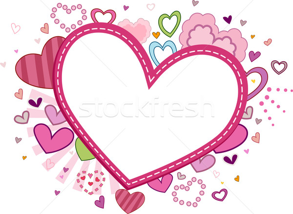 600x437 Heart Frame Vector Illustration Lenm ( 704207) Stockfresh