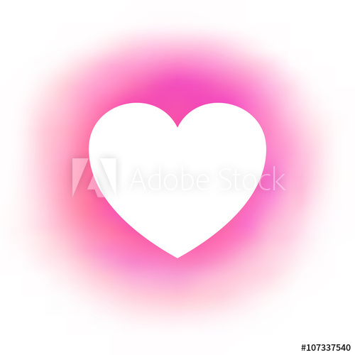 500x500 Abstract Pink Background White Heart Frame Vector