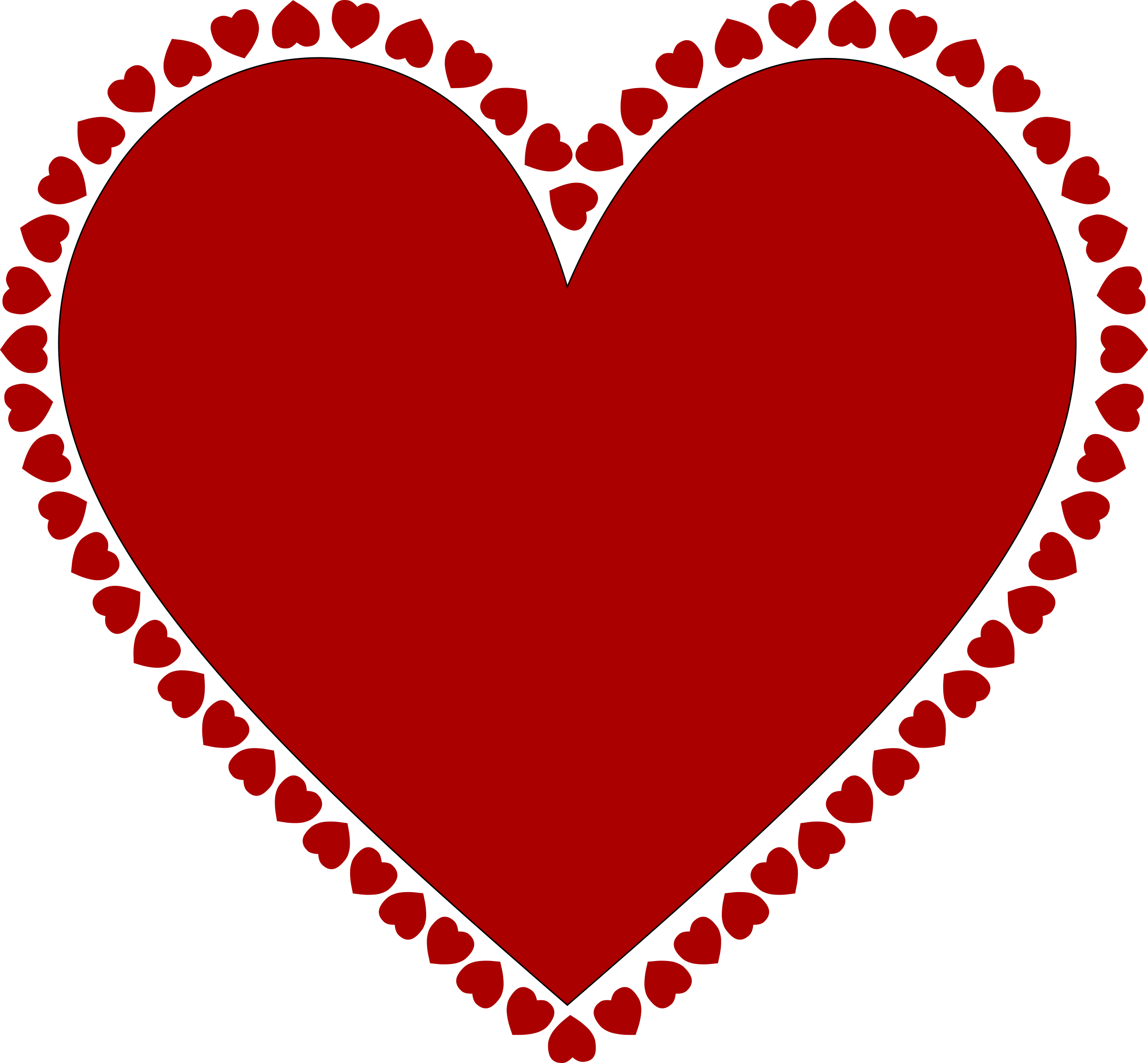 2400x2221 Hearts Clipart Heart Frame
