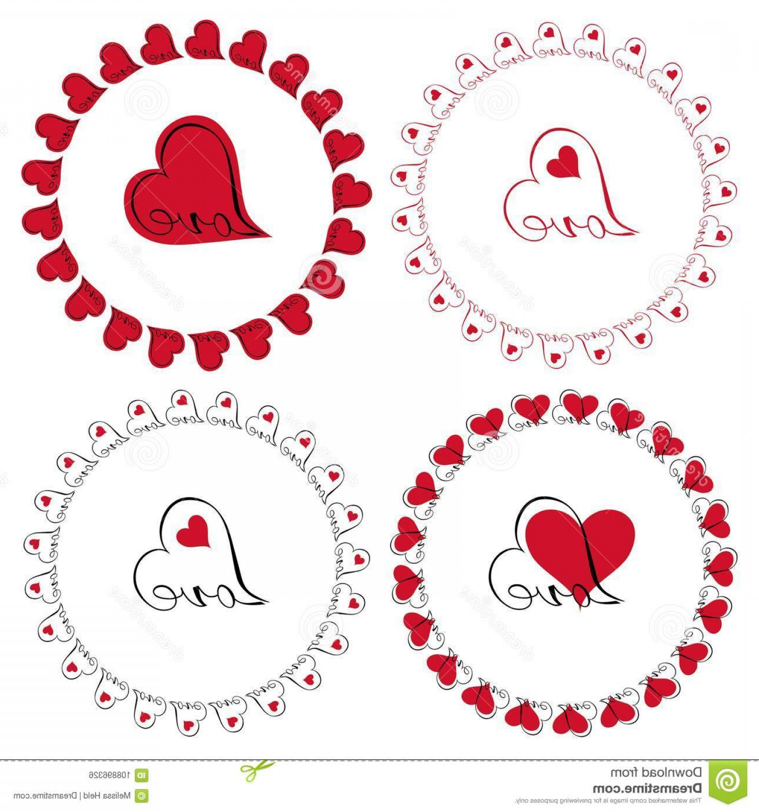 1560x1668 Love Heart Circle Frames Vector Clipart Love Heart Circle Frames