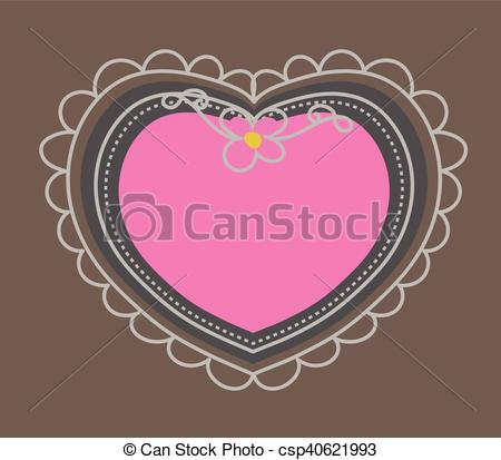 450x413 Scrapbooking Heart Frame Vector Illustration.