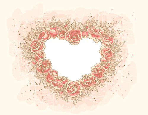 500x389 Set Of Heart Frame Vector Material 04 Free Download