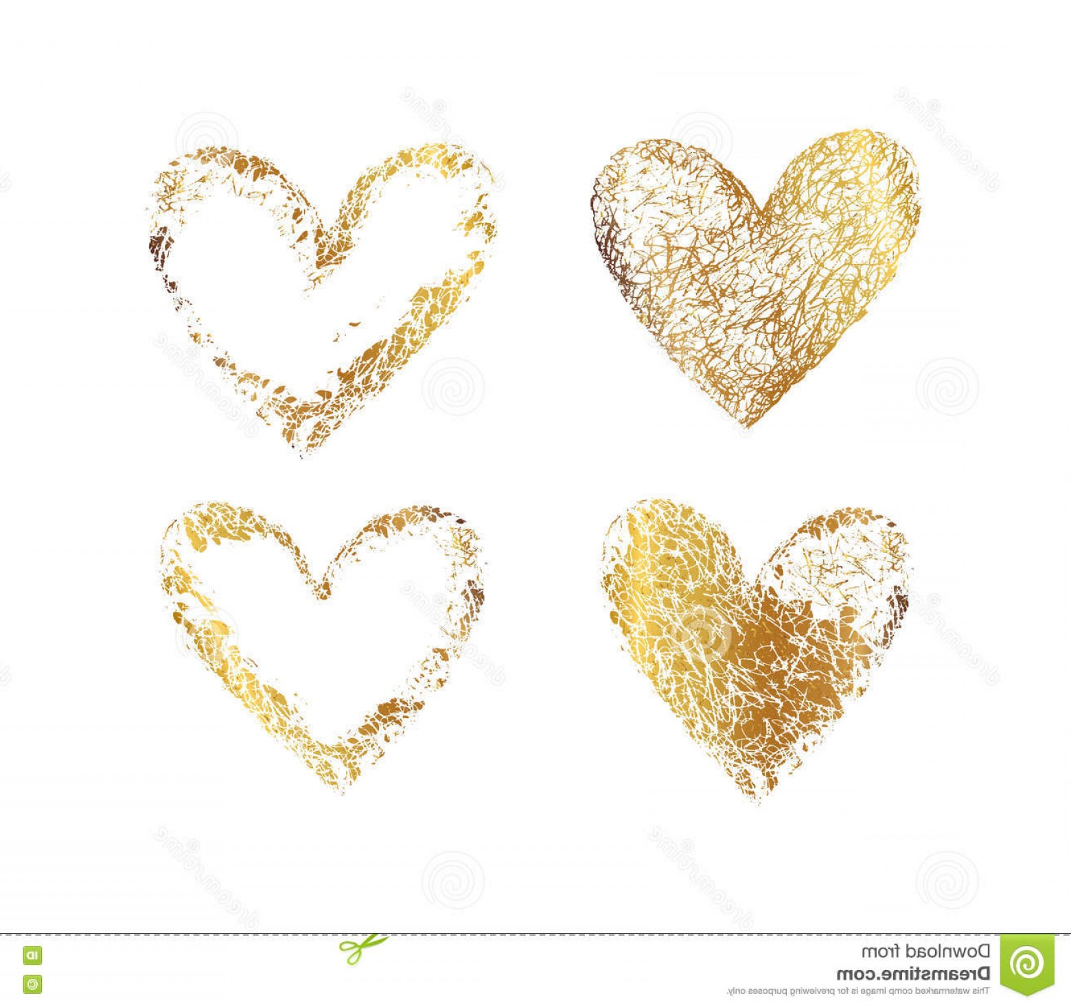 1560x1468 Stock Illustration Gold Heart Frame Vector Set Golden Hearts Set
