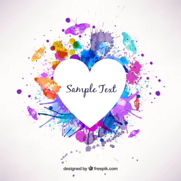 626x626 Watercolor Heart Frame Vector Free Download