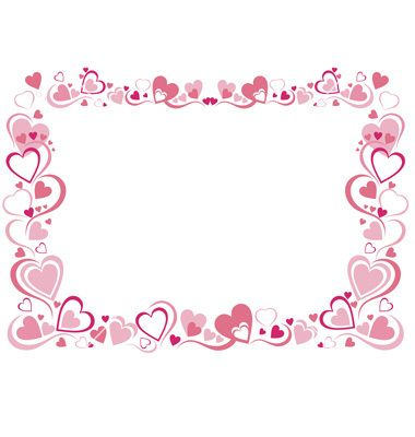 380x400 Ai Borders And Frames Heart Frame Vector Art