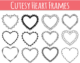 340x270 Digital Heart Frame Etsy