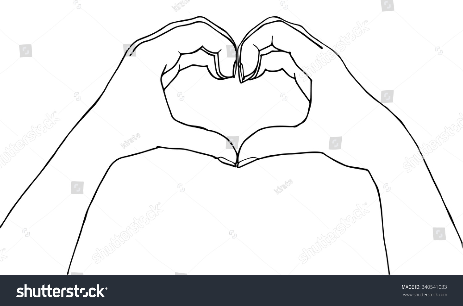 Heart Hands Vector