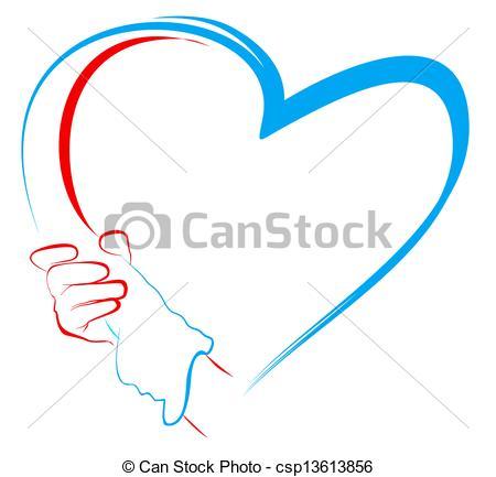 450x433 Hand Clipart Heart Shape