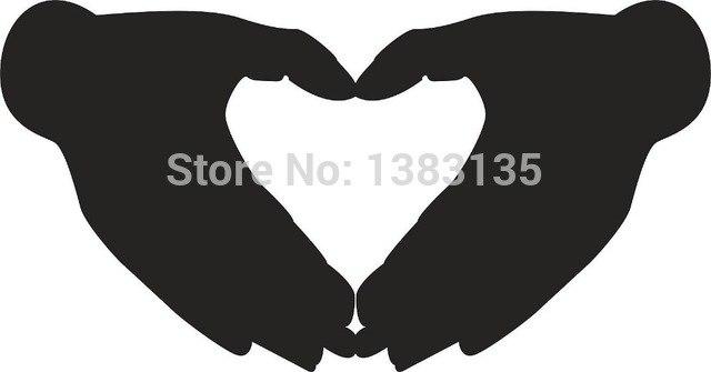 640x335 Heart Hands Vector Image Car Window Sticker Vinyl Decal Funny Jdm