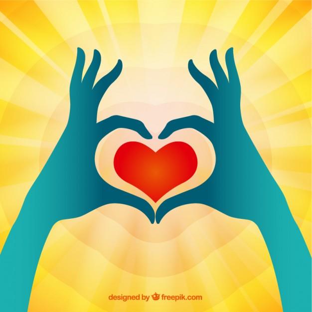 626x626 Heart Hands Vector Free Download