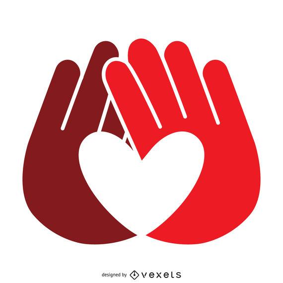 570x570 Heart Hands Label Logo Template