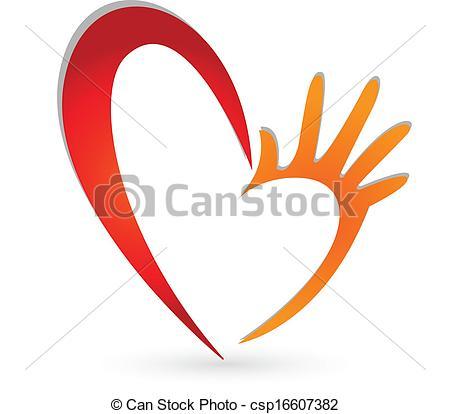 450x414 Heart Hands Logo. Heart Hands Icon Vector .