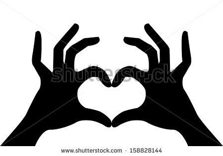 450x316 Heart Hands Silhouette Clipart