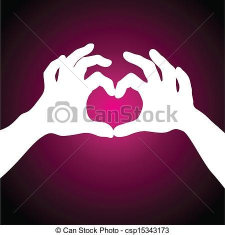 450x470 Love Heart Hands Vectors Illustration