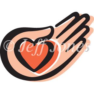 311x311 Loving Helping Hands Heart Icon Vector Art Logo