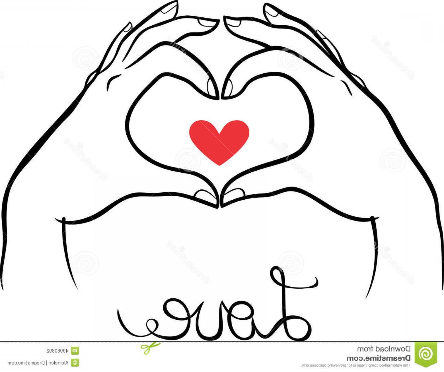 1560x1308 Stock Illustration Hands Making Heart Gesture Vector Illustration