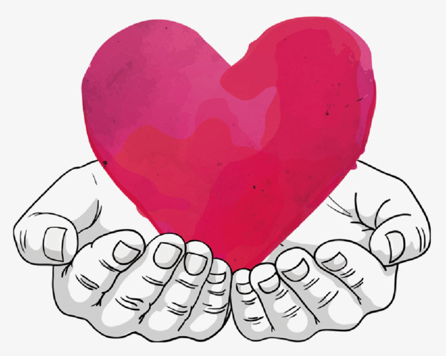 650x519 Vector Red Painted Hands, Hand Painted, Hearts, Hands Png And
