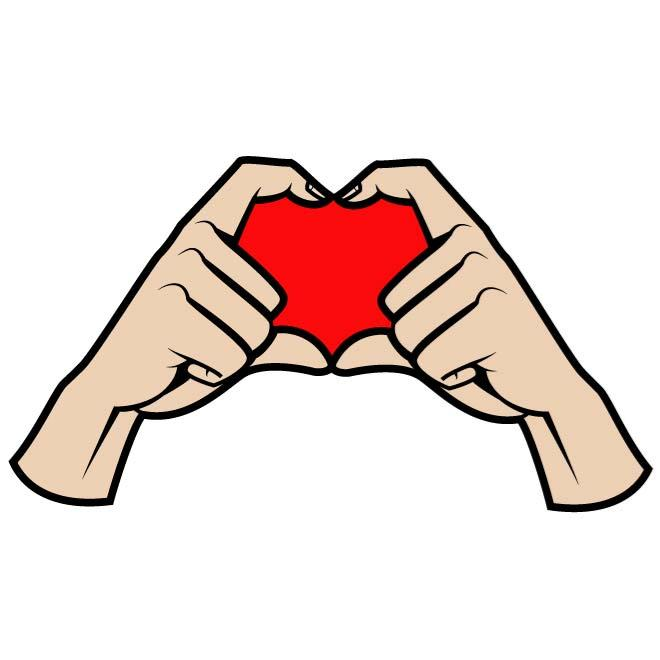 660x660 Heart Sign Created With Hands Vector