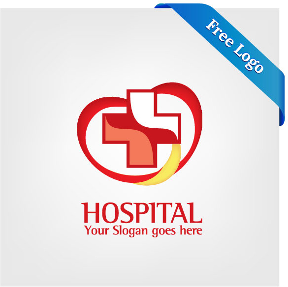 585x584 Free Vector Heart Care Hospital Logo Free Vector In Encapsulated