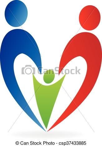 328x470 Family Heart Logo. Family Heart Vector.