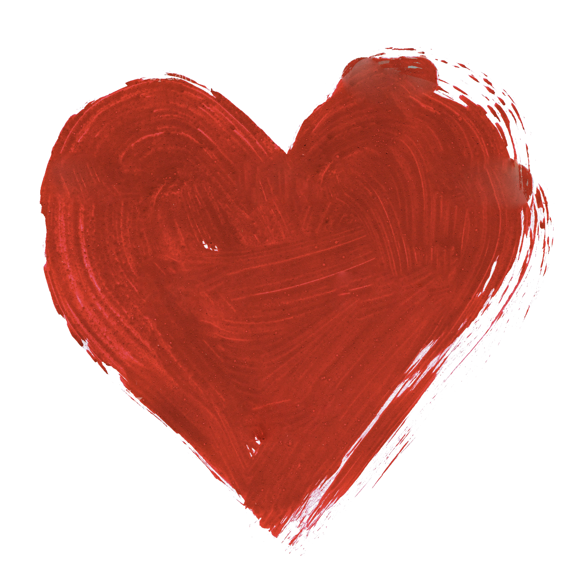 2048x2048 Red Watercolor Heart Png Image