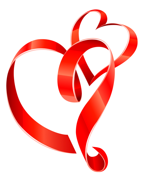 Heart Ribbon Vector