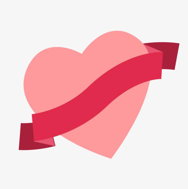 650x651 Pink Heart Ribbon, Heart Vector, Ribbon Vector, Ribbon Clipart Png