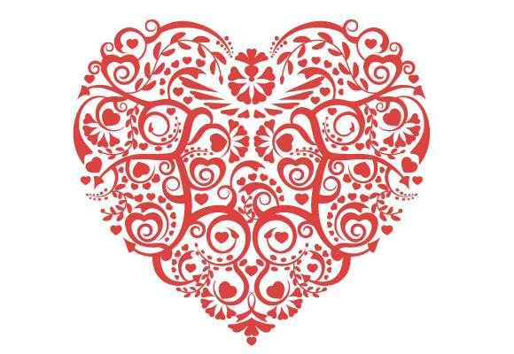 Heart Swirl Vector