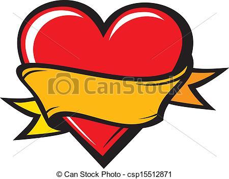 450x353 Heart Tattoo Clipart