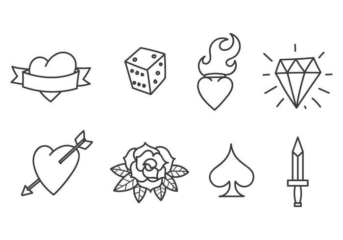 700x490 Heart Tattoo Free Vector Art