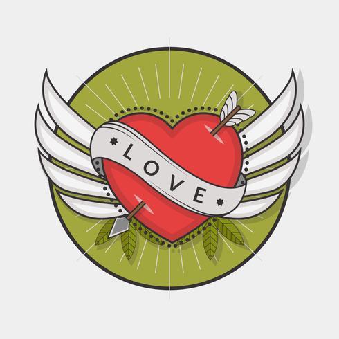 490x490 Heart Tattoo Vector