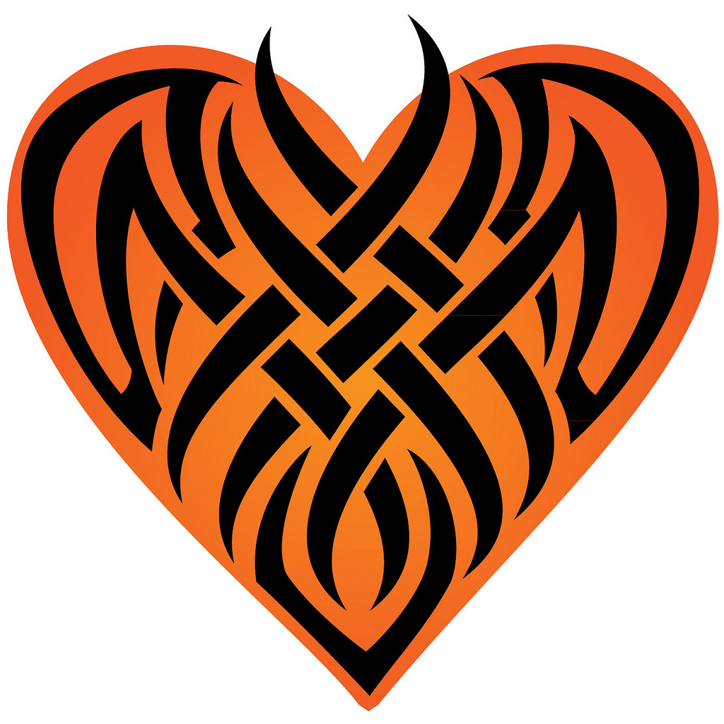 1024x1024 Heart Tattoo Vector Illustration If You Want To Use This