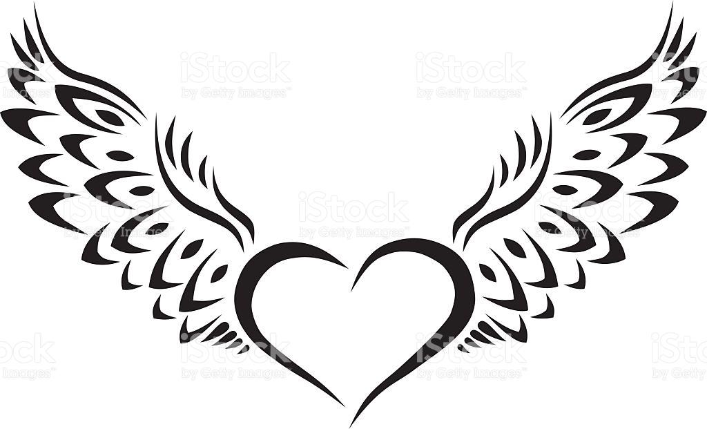 1024x621 Heart Tattoos Clipart Flying Heart