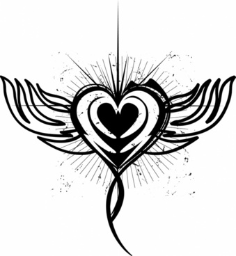 339x368 Heart Tattoo Free Vector Download (4,761 Free Vector) For