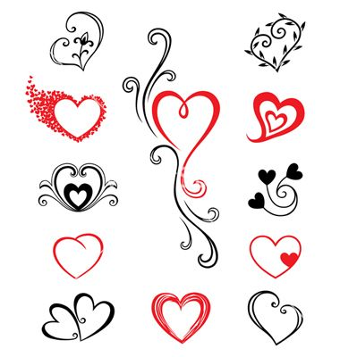 380x400 Hearts Tattoo Vector Tattoos Tattoo, Tatting And