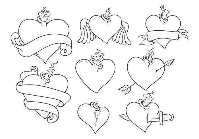 700x490 Free Sacred Heart Tattoo Vector
