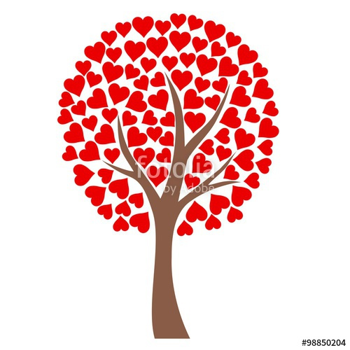 500x500 Heart Tree With White Background Stock Image And Royalty Free