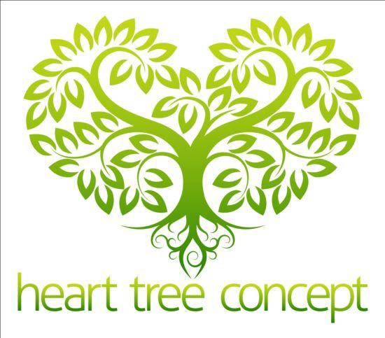 550x483 Heart Tree Logo Vector 02