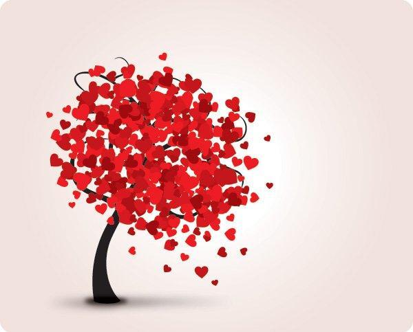 600x483 Abstract Hearts Tree