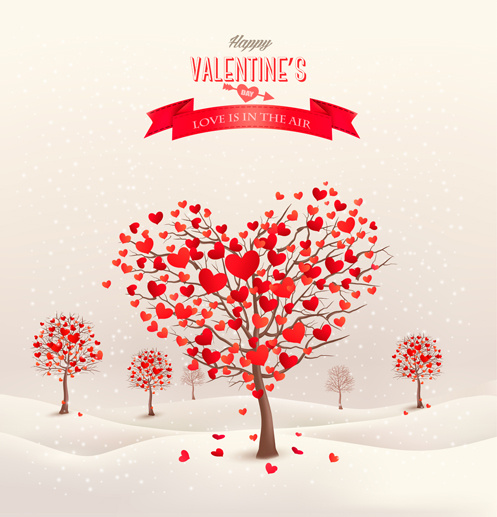497x517 Heart Tree Valentine Background Art Free Vector In Encapsulated