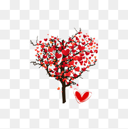 260x261 Red Heart Shaped Tree Png, Vectors, Psd, And Clipart For Free